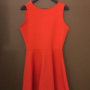 ASOS neon orange mini skater dress